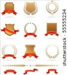 banners  badges  laurels and... | Shutterstock .eps vector #55555234
