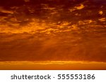 sunrise sky covered with... | Shutterstock . vector #555553186