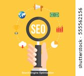 seo   search engine...   Shutterstock .eps vector #555562156