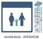 family calendar page pictograph ... | Shutterstock .eps vector #555564238