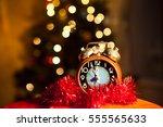 christmas still life | Shutterstock . vector #555565633