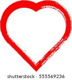 set of hearts . grunge stamps... | Shutterstock .eps vector #555569236