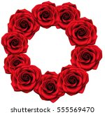 vector round frame with red... | Shutterstock .eps vector #555569470