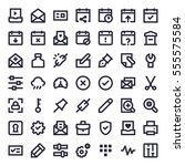 line essential icons 57   Shutterstock .eps vector #555575584