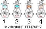 4 stroke internal combustion... | Shutterstock .eps vector #555576940