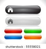 buttons for web. vector. | Shutterstock .eps vector #55558021