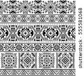 tribal vector seamless pattern... | Shutterstock .eps vector #555581068