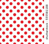Red Polka Dot On White...