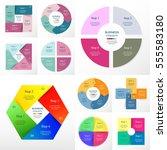 vector circle infographic set.... | Shutterstock .eps vector #555583180