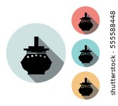 ship icon isolated vector sign...