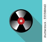 vinyl record vector flat icon....