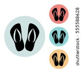 slippers icon isolated vector...