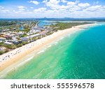 an aerial view of noosa on... | Shutterstock . vector #555596578