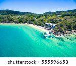 an aerial view of noosa beach... | Shutterstock . vector #555596653