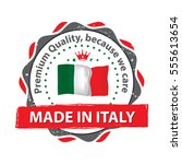 made in italy. premium quality  ... | Shutterstock .eps vector #555613654