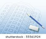 building background. plan of... | Shutterstock .eps vector #55561924
