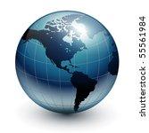 earth globe  world glossy...