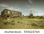 michigan ghost town. abandoned... | Shutterstock . vector #555623764