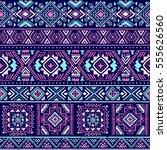 dark multicolor tribal vector... | Shutterstock .eps vector #555626560