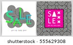 sale banners with abstract... | Shutterstock .eps vector #555629308