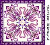 bandanna with bright pink... | Shutterstock .eps vector #555632488