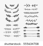 vector dividers and laurels.... | Shutterstock .eps vector #555634708