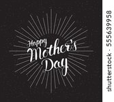 holiday background mother's day.... | Shutterstock .eps vector #555639958