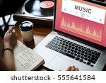 music video player multimedia... | Shutterstock . vector #555641584
