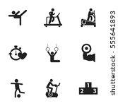set of 9 editable training... | Shutterstock . vector #555641893