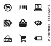 set of 9 editable  icons....