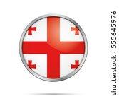 vector georgian flag button.... | Shutterstock .eps vector #555645976
