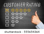 customer rating five stars with ...   Shutterstock . vector #555654364