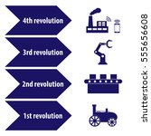 industry 4.0 and 4th revolution ... | Shutterstock .eps vector #555656608