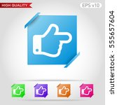 colored icon or button of right ... | Shutterstock .eps vector #555657604