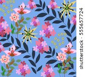 flower pattern | Shutterstock .eps vector #555657724