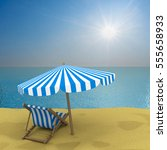 vacation on the seashore. 3d... | Shutterstock . vector #555658933