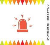 alarm vector icon. siren alarm... | Shutterstock .eps vector #555659470