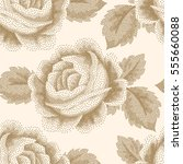 seamless pattern with dotted... | Shutterstock . vector #555660088