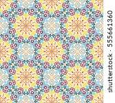floral seamless pattern.... | Shutterstock .eps vector #555661360