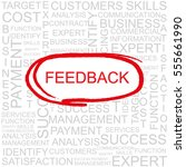 feedback word cloud  business... | Shutterstock .eps vector #555661990