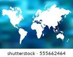 colorful world map illustration ... | Shutterstock . vector #555662464