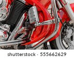 Closeup Of Red Motorcycle....