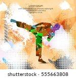 combat warrior. karate... | Shutterstock .eps vector #555663808
