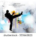 combat warrior. karate... | Shutterstock .eps vector #555663823