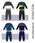 set of clothes for boy | Shutterstock .eps vector #555667228