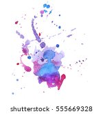 colorful abstract watercolor... | Shutterstock .eps vector #555669328