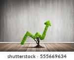 market growth and success as... | Shutterstock . vector #555669634