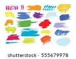 brush strokes painted vector... | Shutterstock .eps vector #555679978