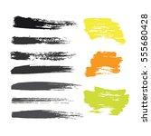 grunge hand drawn brush stroke... | Shutterstock .eps vector #555680428
