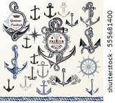 collection of anchors  labels... | Shutterstock .eps vector #555681400